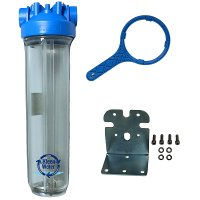 Premier Whole House Water Filter Housing 4.5 x 20 with Bracket/Wrench
