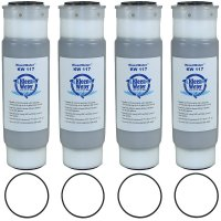 KW117 Replacement Granular Activated Carbon Filters with 4 O-rings