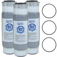 Three Whirlpool WHKF-GAC Replacement Water Filters with 3 O-rings