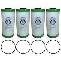 Four Aqua-Pure AP811 Replacement Water Filter Cartridges with O-rings