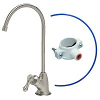Chrome Finish Air Gap Faucet - European Style - Reverse Osmosis
