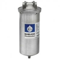 4.5 x 10 Shelco Stainless Steel Water / Fluid Filter Housing - FLD78