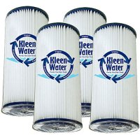 Four 4.5 x 10 Inch Pleated Dirt/Sediment Water Filter Cartridges