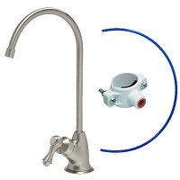 Brushed Nickel Air Gap Faucet - European Style - Reverse Osmosis