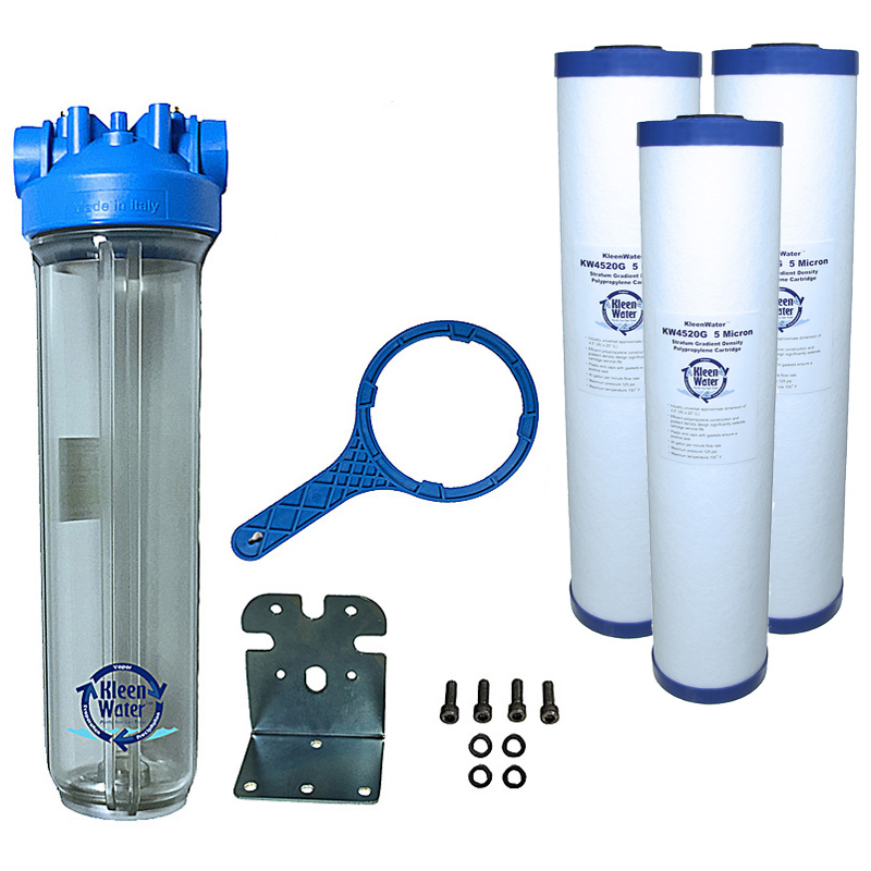 Premier Sediment Whole House Water Filter System 4.5 x 20 - Click Image to Close
